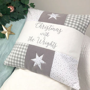 Christmas With… Grey Cushion