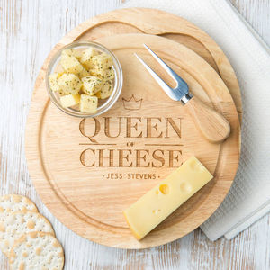 Personalised Cheese Board Gift For Her - home