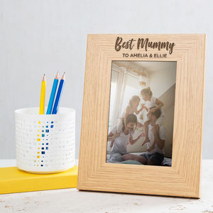 Personalised Best Mummy Photo Frame - picture frames for children