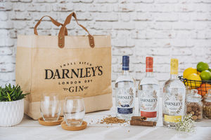 Darnley's Gin Selection + Glasses And Bag
