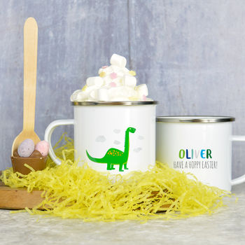 Dinosaur Mug With Easter Hot Chocolate Stirrer