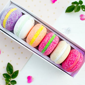 Bath Macaron Fizz Bombs - birthday gifts