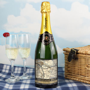 Personalised Map Champagne