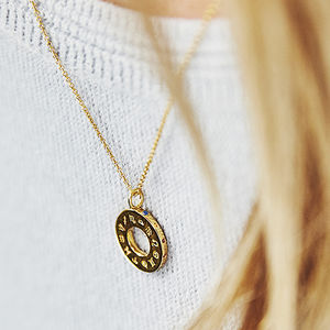 Gold Or Silver Personalised Zodiac Birthstone Necklace - gifts for her