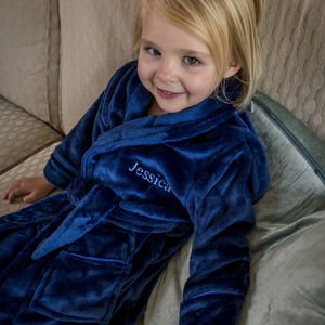 Personalised Supersoft Childrens Dressing Gown - lounge & activewear