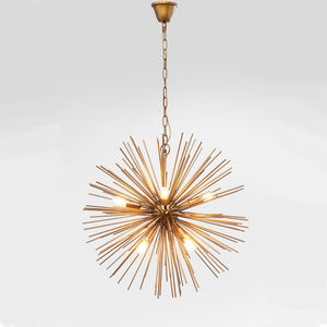 Starburst Brass Beam Pendant Lamp - ceiling lights