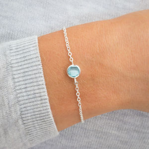 Personalised Carrie Birthstone Bracelet - flower girl jewellery