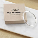 Mother Quote Message Bangle