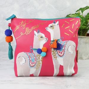 'Candy Pop' Party Llamas Wash Bag