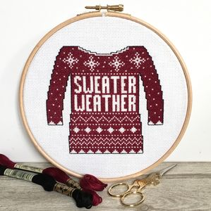 Sweater Weather Cross Stitch Kit