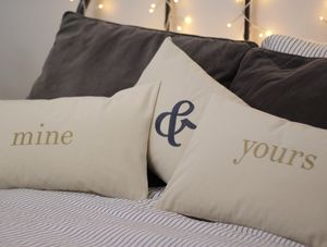Personalised Yours And Mine Cushions