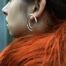 Gyra Silver Hoop Earrings