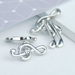 Personalised Treble Clef Musical Notes Cufflinks