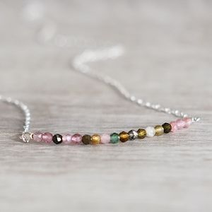 Real Tourmaline Gemstone Necklace