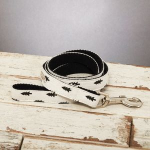 The Balmoral Black And White Fir Tree Dog Lead - pet leads & harnesses