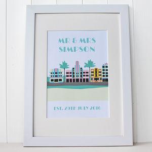 Personalised 'Art Deco' Miami Beach Print