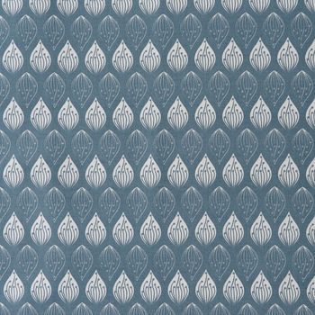 Isabella Blue Wipeable Tablecloth Fabric By The Metre