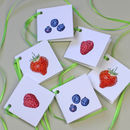 Strawberry, Raspberry And Blueberry Gift Tags