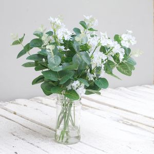 Faux Eucalyptus And Gypsophelia Bouquet - fresh & alternative flowers
