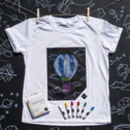 Chalkboard Apparel T Shirt White Draw On Your T Shirt