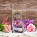 Personalised Flower Design Vase