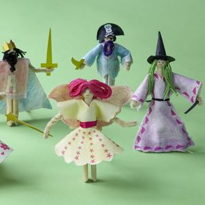 Make Fairytale Peg Doll Puppets - traditional toys & games