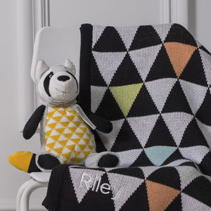Personalised Geometric Pram Blanket
