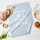 Personalised Address Tea Towel Gift