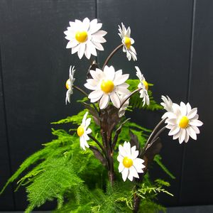 Handpainted Daisy Sculptures - gardener
