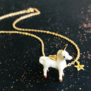 Personalised Unicorn, Pegasus Or Narwhal Necklace