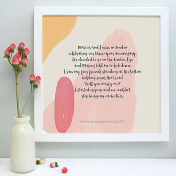 personalised our story framed print