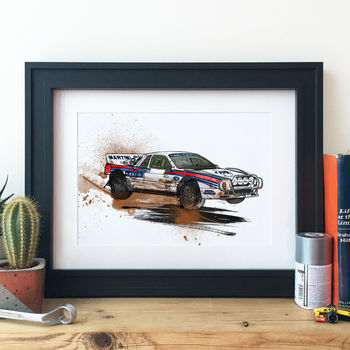 Lancia 037 Group B Rally Car Illustration