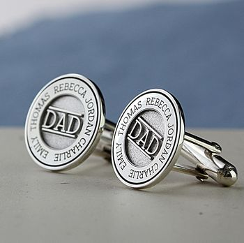 Deep Engraved Personalised Sterling Silver Cufflinks