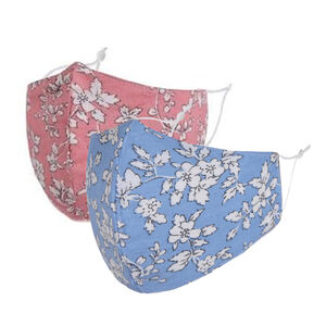 Floral Cotton Fabric Face Masks Two Pack