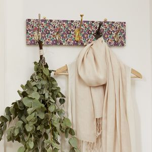 Liberty Print Mismatched Coat Rack With Five Hooks - stands, rails & hanging space