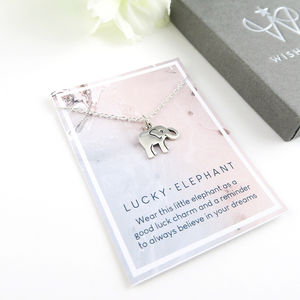Lucky Elephant Necklace Sterling Silver