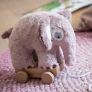 Scandi Elephant Pull Along Toy
