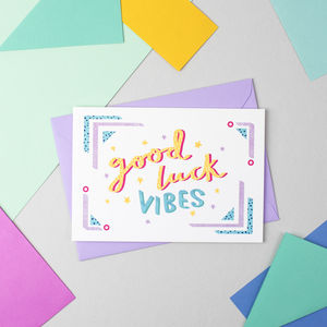 'Good Luck Vibes' Card - shop by category