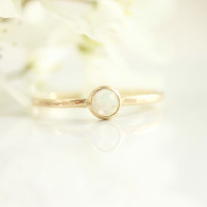 Opal And 9ct Gold Ring - rings