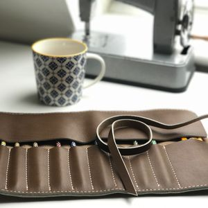 Pencil Case Roll On Leather