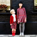 Girls Ruby Tartan Dress