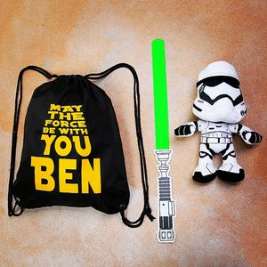 Personalised May The Force Be With You Bag - bags, purses & wallets