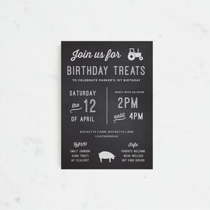 20 Little Farmer Personalised Party Invitations