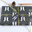 Penguin Christmas Wrapping Paper Gift Set