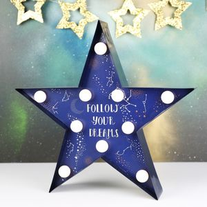 Starry Nights Quote LED Light - decorative lights