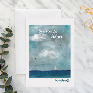 Personalised Bon Voyage Travel A5 Card
