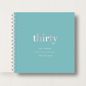 Personalised 30th Birthday Memory Book
