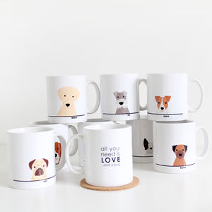 Personalised All You Need Is Love..And A Dog Mug - valentine's gifts for her