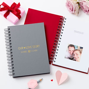 'Our Love Story' Hidden Photo Notebook
