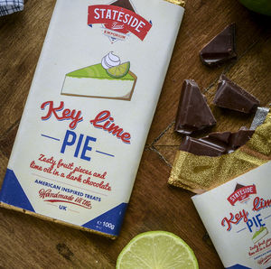 Key Lime Pie Dark Chocolate Bar